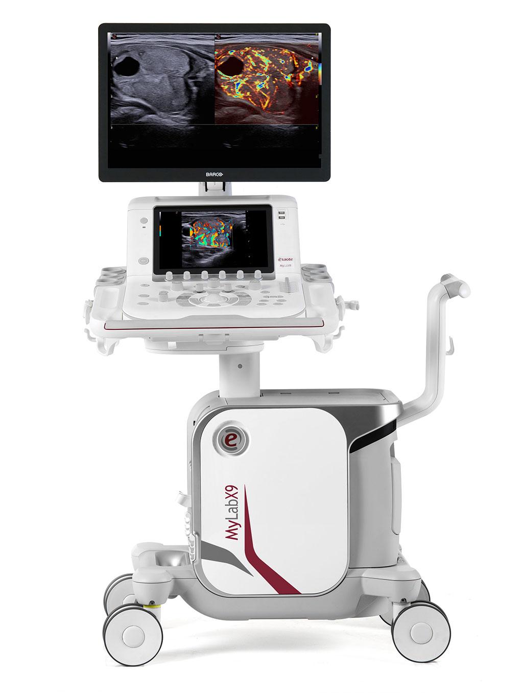 Image: The MyLab X9 64-bit X ULTRA ultrasound system (Photo courtesy of Esaote)