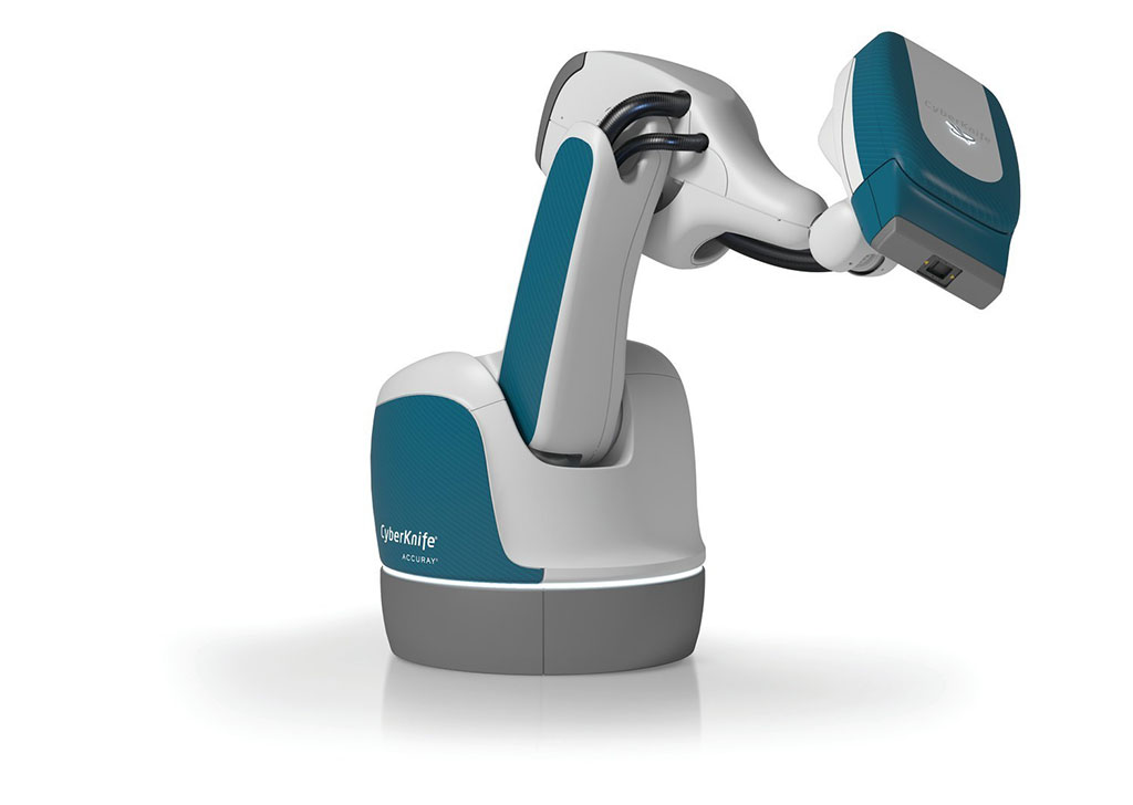Image: The CyberKnife S7 System (photo courtesy of Accuray)