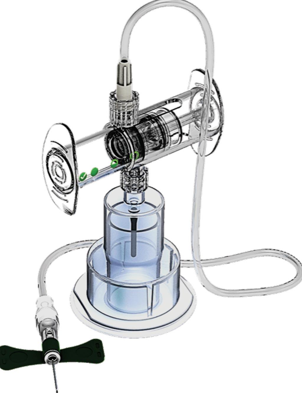 图片:SteriPath Gen2血液培养物收集系统(图片蒙Magnolia医疗技术公司惠赐)。