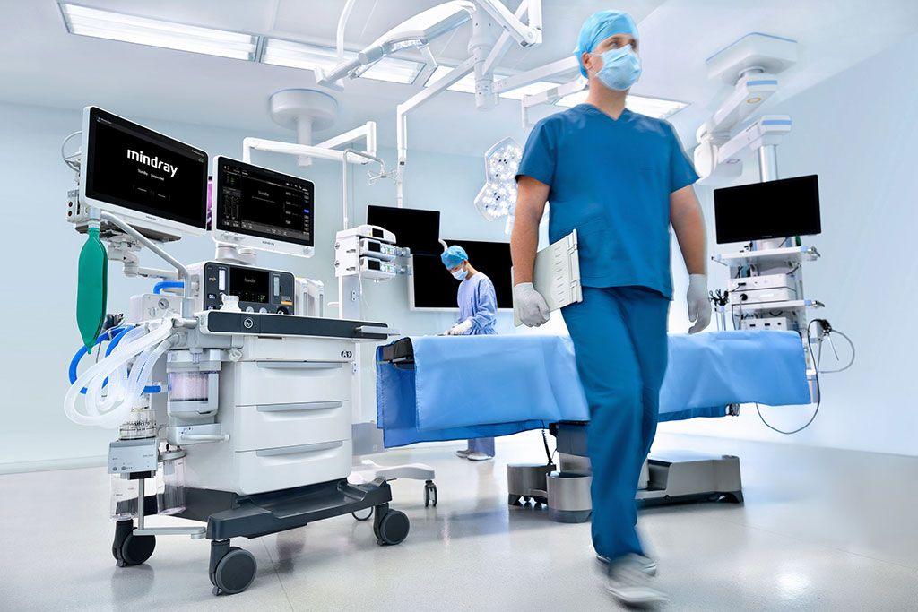 Imagen: El nuevo sistema de anestesia A9 (Fotografía cortesía de Mindray)