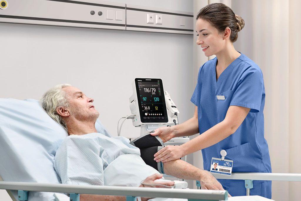 Imagen: El monitor Mindray VS9 potencia la atención centrada en el paciente (Fotografía cortesía de Mindray)