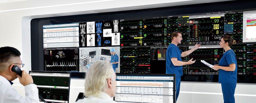 Imagen: La plataforma M-Connect integra la información del paciente desde múltiples dispositivos (Fotografía cortesía de Mindray)