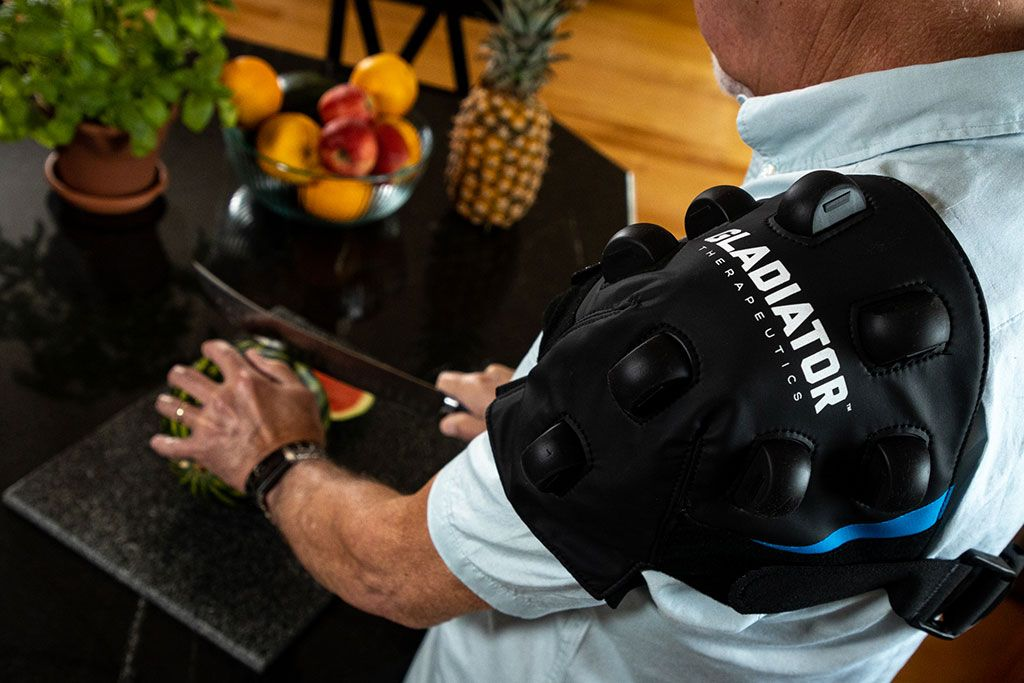 Imagen: El dispositivo de hombro Gladiator CeraRecovery (Fotografía cortesía de Gladiator Therapeutics)
