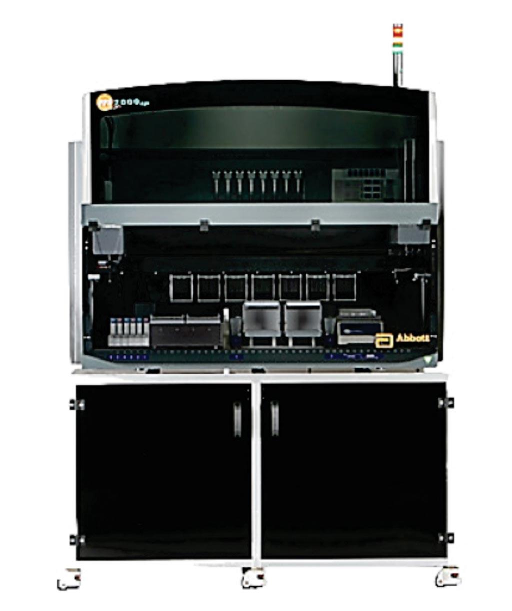Imagen: El sistema Abbott m2000 RealTime es una solución altamente flexible y demostrada que presenta un amplio menú de ensayos de diagnóstico in vitro (Fotografía cortesía de Abbott Molecualr Diagnostics).