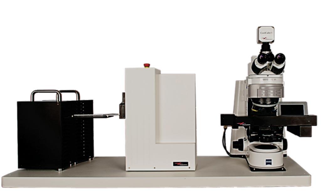 Imagen: La plataforma para Escaneo e Imagenología de Láminas MetaFer Slide con un microscopio Zeiss (Fotografía cortesía de MetaSystems Group).