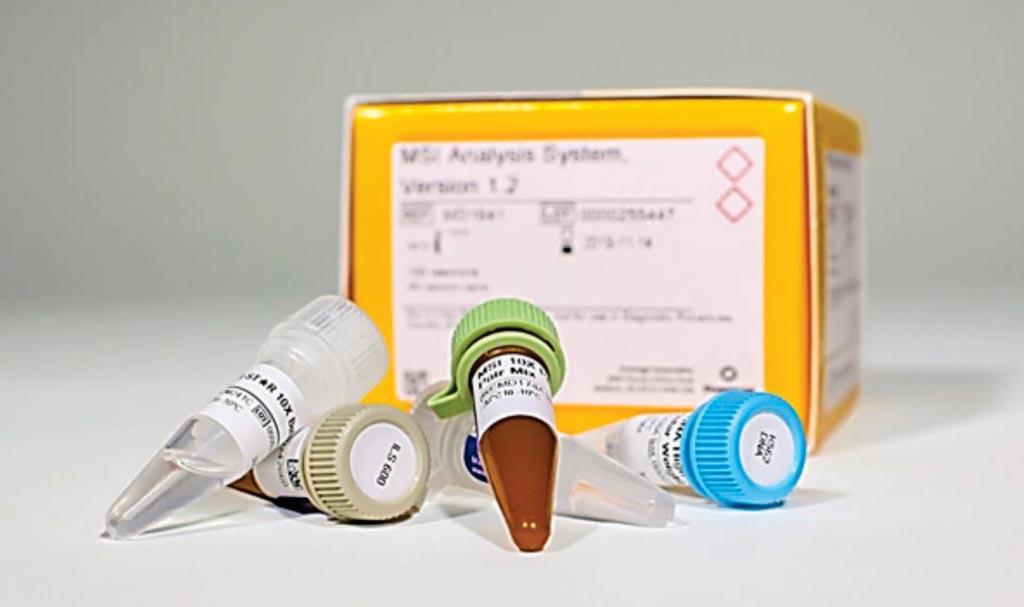 Imagen: El Sistema de Análisis de MSI, Versión 1.2, es un método multiplex fluorescente basado en PCR para detectar la inestabilidad de los microsatélites (MSI), una forma de inestabilidad genómica (Fotografía cortesía de Promega).