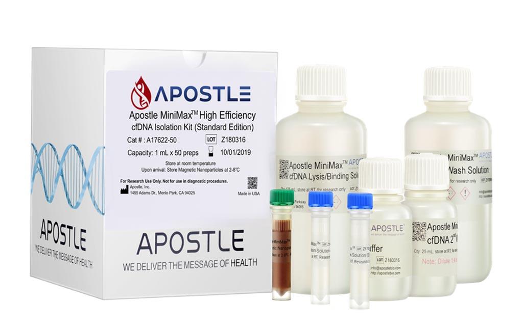 Imagen: El kit de aislamiento de ADN sin células, de alta eficiencia, MiniMax (Fotografía cortesía de Apostle/Beckman Coulter).