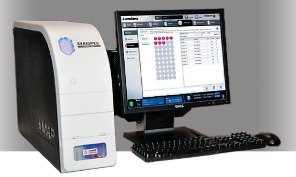 Imagen: El instrumento analítico basado en fluorescencia MAGPIX (Fotografía cortesía de Luminex).