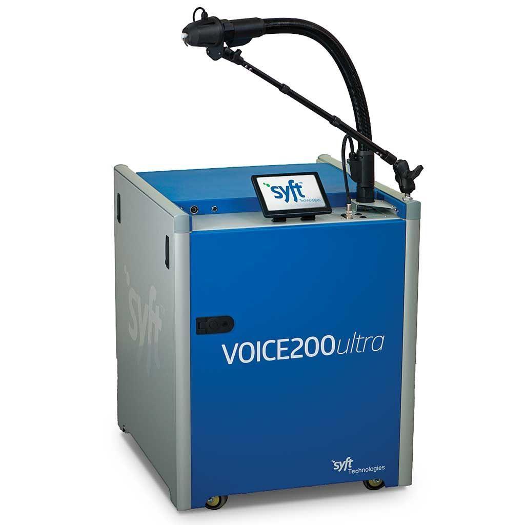 Imagen: La prueba de aliento desarrollada para el diagnóstico del cáncer de cabeza y cuello utilizó un espectrómetro de masas de tubo de flujo de iones seleccionado (Fotografía cortesía de Syft Technologies).