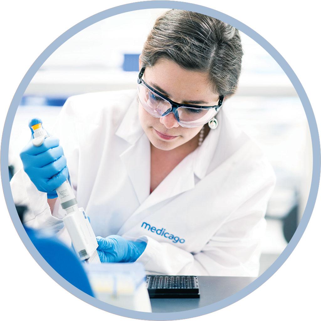 Imagen: La vacuna COVID-19 de Medicago combinada con el adyuvante de vacuna de GSK desencadena la respuesta inmune en todos los participantes del estudio (Fotografía cortesía de Medicago)Los resultados provisionales del ensayo clínico de fase 1 de la vacuna de origen vegetal de Medicago (Ciudad de Quebec, Canadá) para la COVID-19 demostraron que el 100% de los individuos desarrollaron una respuesta de anticuerpos prometedora después de dos dosis.