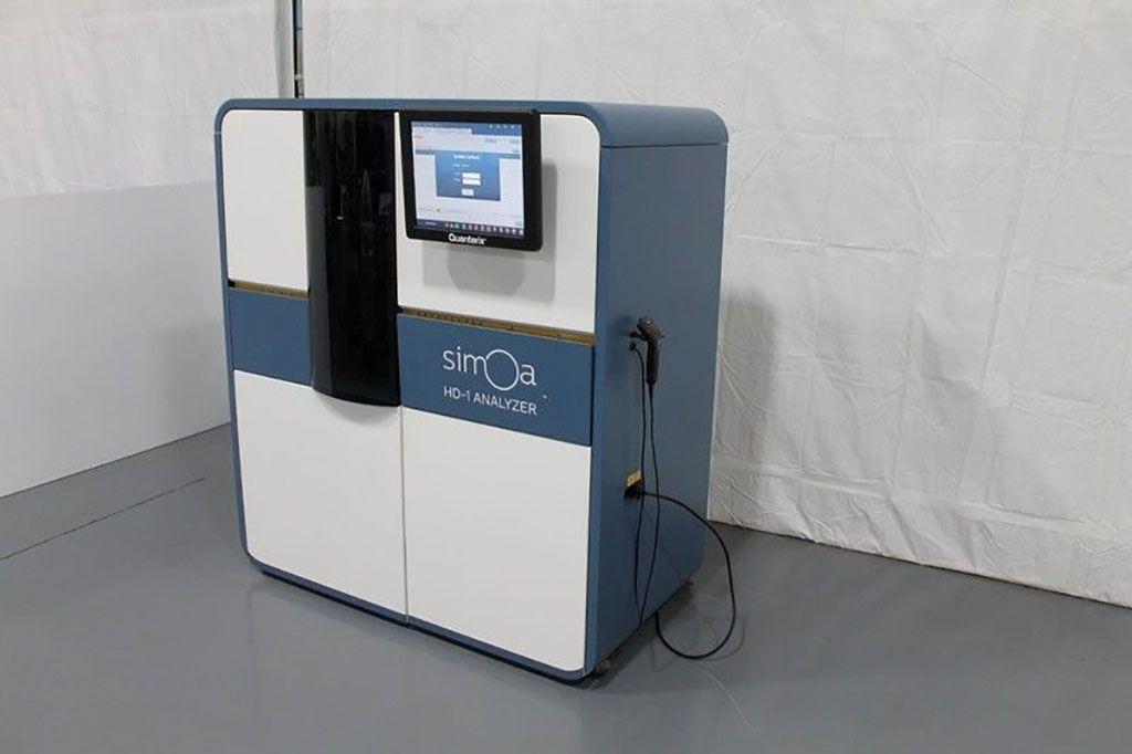 Imagen: El analizador Simoa HD-1 es un nuevo analizador de inmunoensayo digital totalmente automatizado con sensibilidad de una sola molécula y multiplexación (Fotografía cortesía de Quanterix).