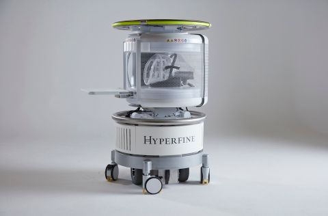Imagen: El sistema de resonancia magnética portátil, Hyperfine Research Swoop (Fotografía cortesía de HyperFine Research)