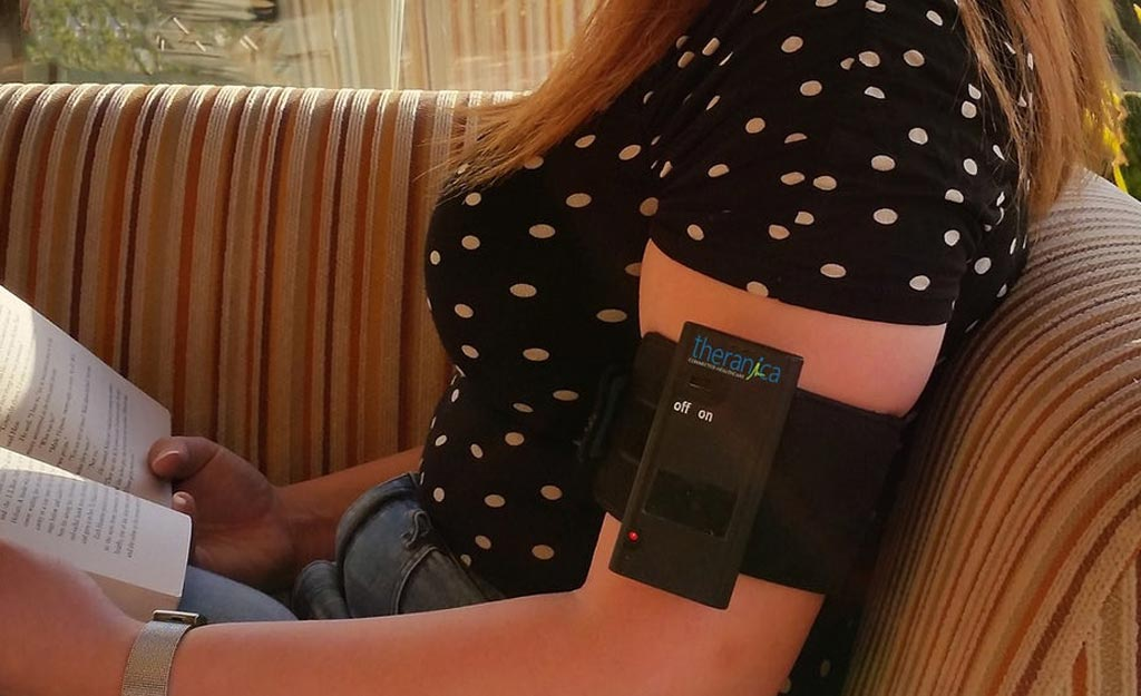 Image: A novel electrical stimulation armband patch could alleviate migraines (Photo courtesy of Theranica).
