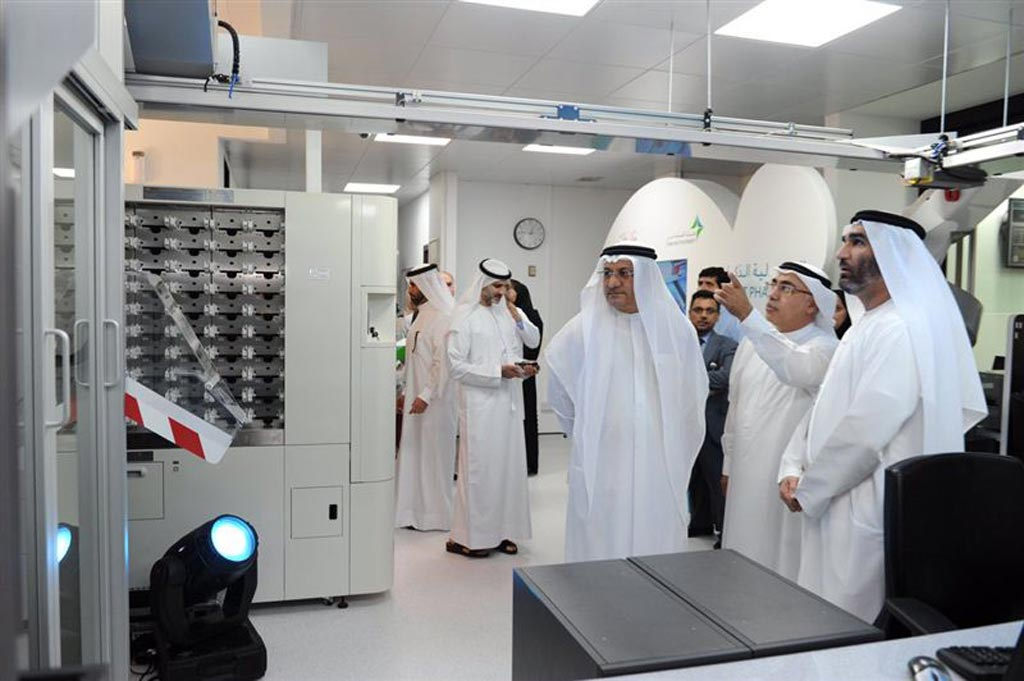 Image: The DHA inaugurates a smart pharmacy robot for dispensing medicines in Dubai Hospital (Photo courtesy of the DHA).