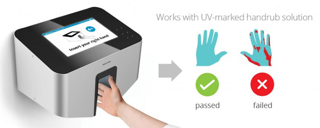 Image: The automated hand scanner scores hygiene performance (Photo courtesy of HandInScan).