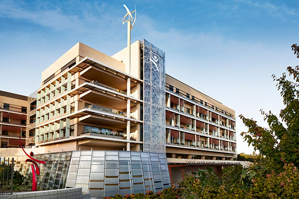 Image: The new Lucile Packard Children's Hospital main building (Photo courtesy of Stanford Health).