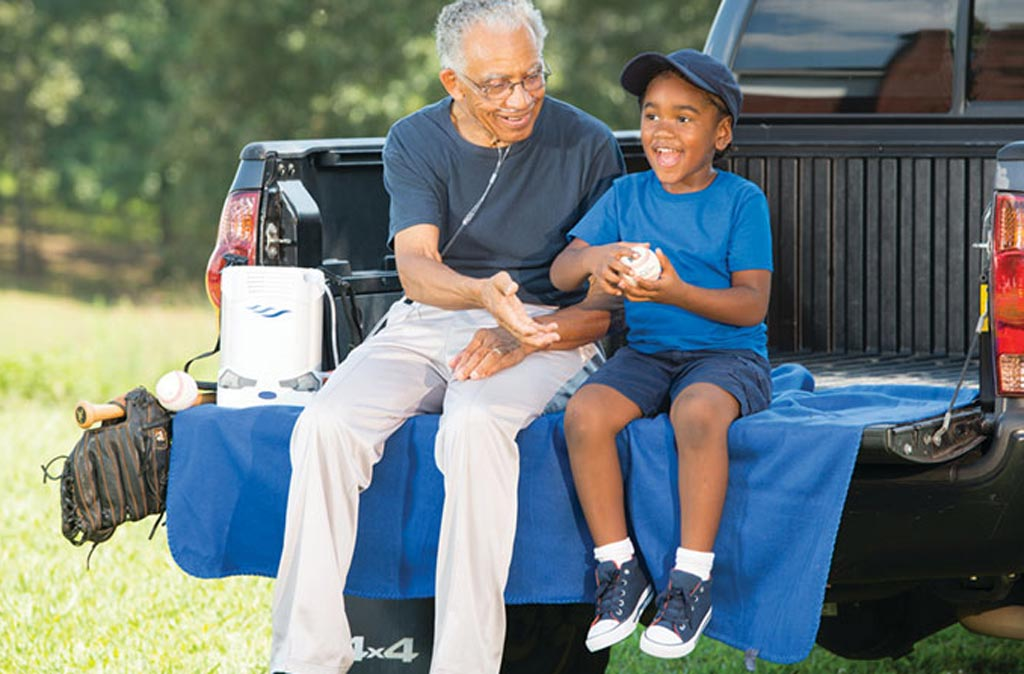 Image: A new portable oxygen concentrator allows COPD patients a wider mobility (Photo courtesy of Caire).