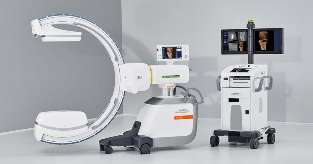 Image: The Cios Spin Mobile 3D C-arm (Photo courtesy of Siemens Healthineers).