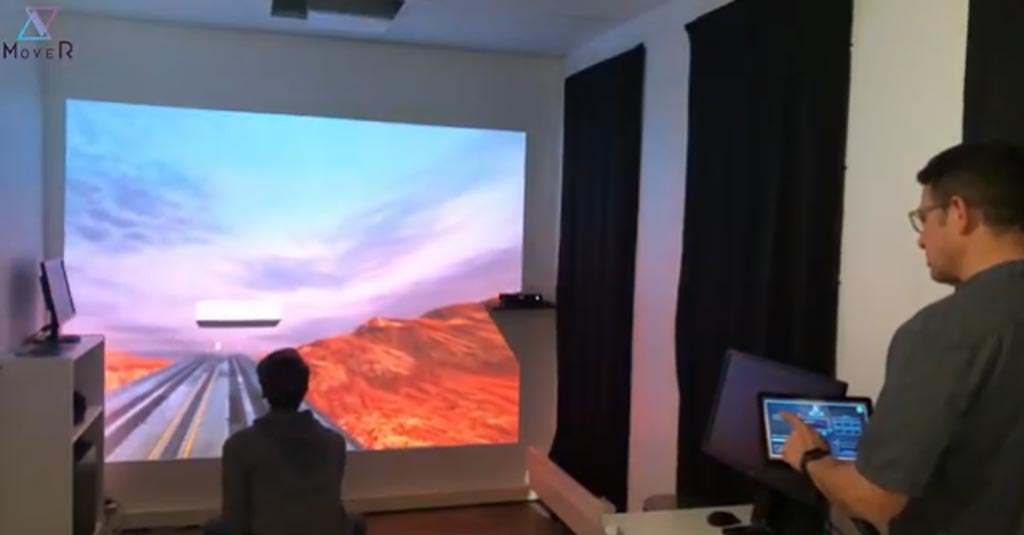 Image: A clinician controlling a patient's augmented reality experience (Photo courtesy of Scale-1 Portal).