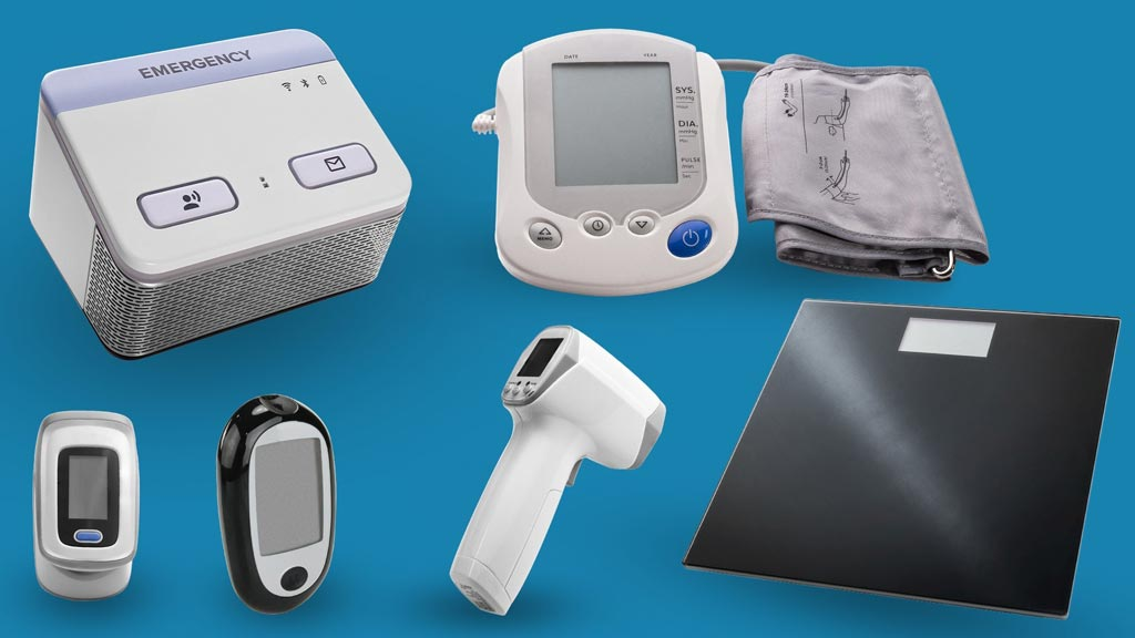 Image: The Electronic Caregiver Pro Health system and connected Bluetooth biometric devices (Photo courtesy of SDS).