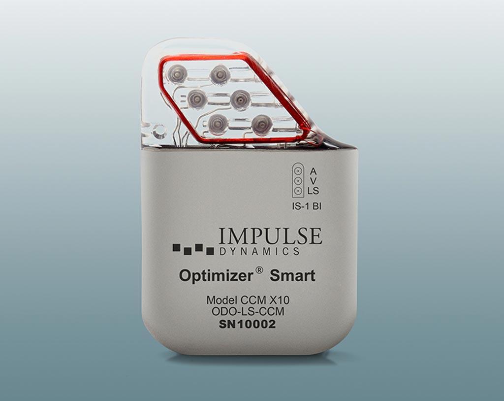 Image: The Optimizer Smart implantable device (Photo courtesy of Impulse Dynamics).