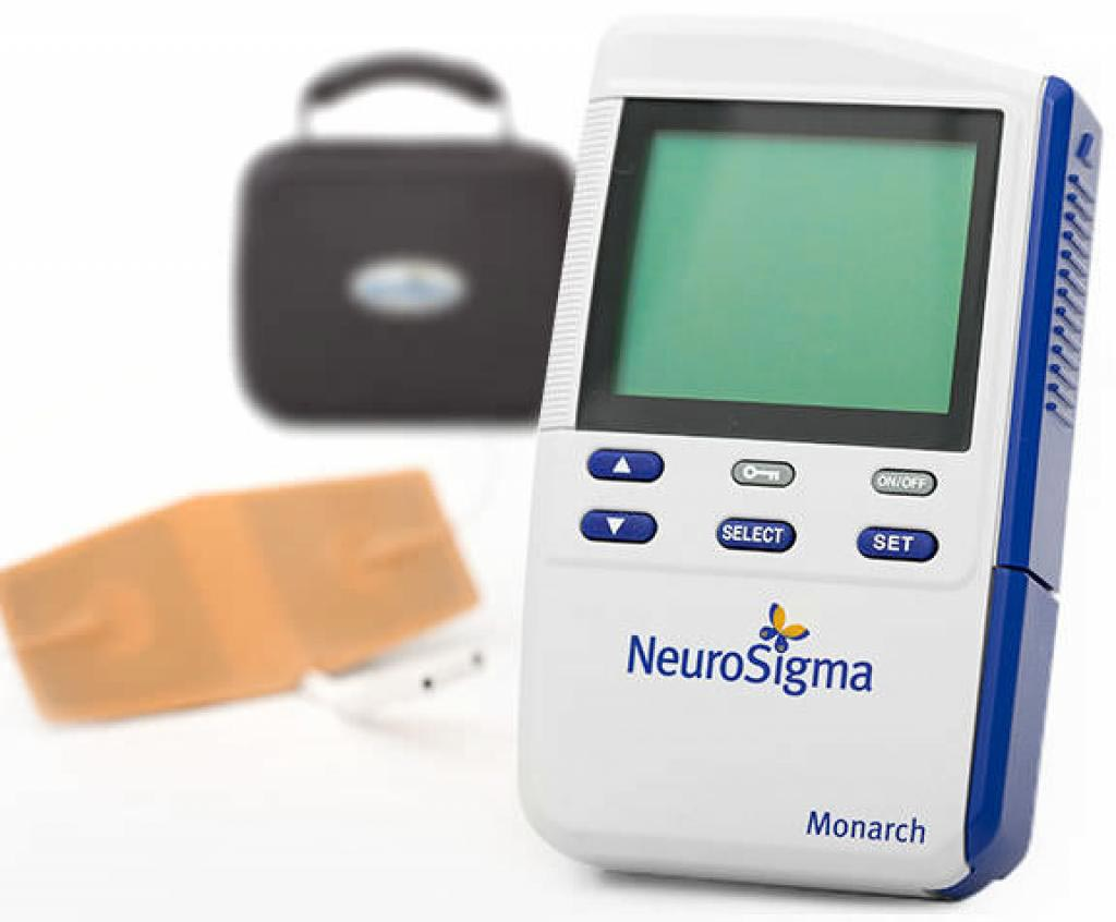 Image: Providing electrical stimulation to the forehead can reduce ADHD symptoms (Photo courtesy of NeuroSigma).