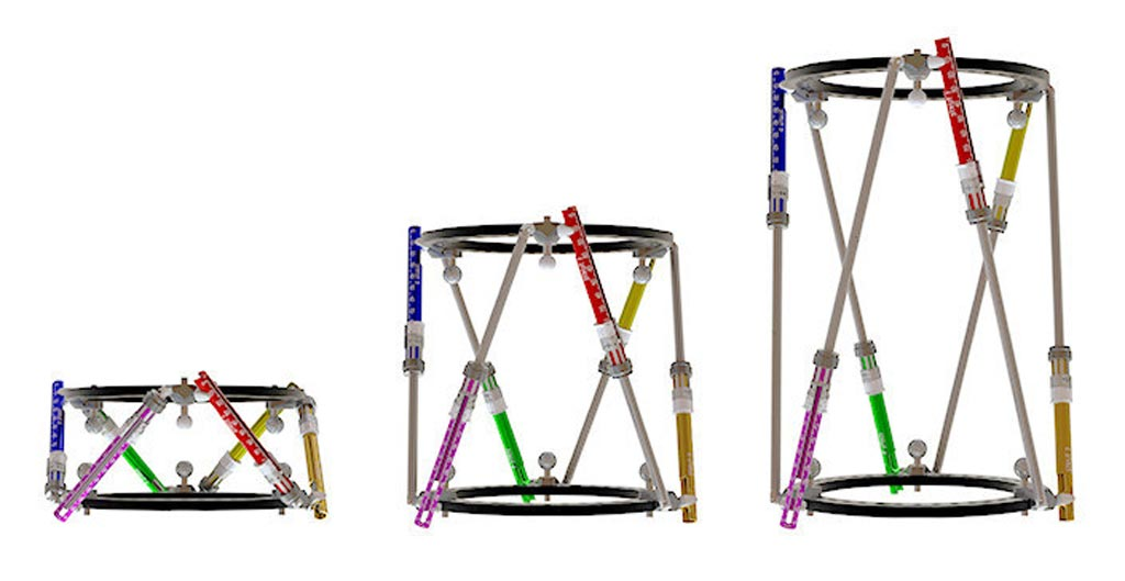 Image: The SixFix Hexapod frame can extend to 300mm (Photo courtesy of AMDT).