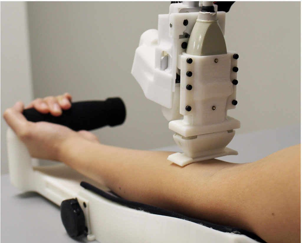 Image: A robotic venipuncture device draws blood with high success rates (Photo courtesy of Rutgers)