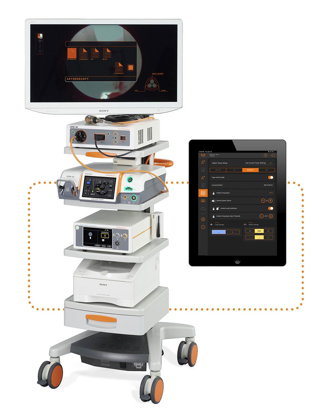 Image: The INTELLIO connected tower solution facilitates sports medicine (Photo courtesy of Smith & Nephew)