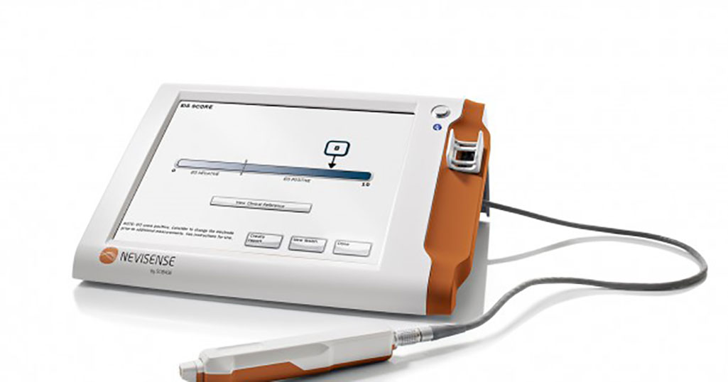 Image: The Nevisense EIS device (Photo courtesy of SciBase)