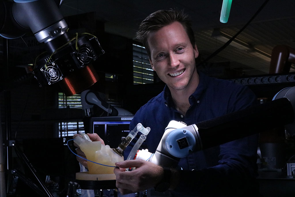 Image: Christoff Heunis and the ARMM system (Photo courtesy of Christoff Heunis)