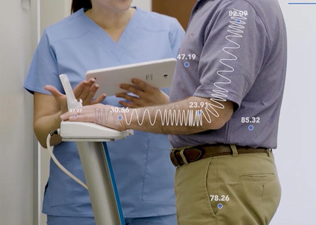 A new bioimpedance system noninvasively measure body fluid status (Photo courtesy of ImpediMed)