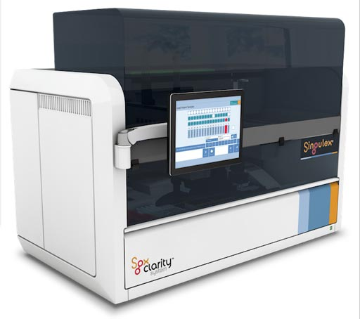 Image: The Sgx Clarity system, an integrated single molecule counting technology-reading instrument (Photo courtesy of Singulex).