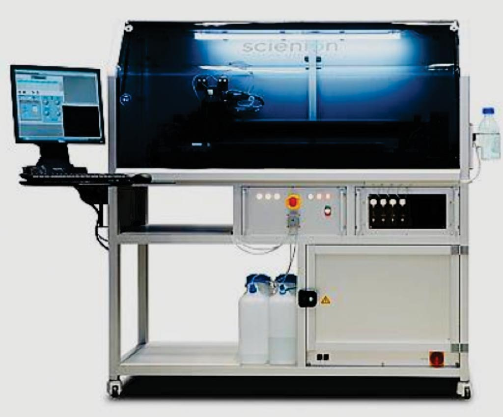 Image: The sciFLEXARRAYER system is an ultra-low volume dispensing systems (Photo courtesy of SCIENION).
