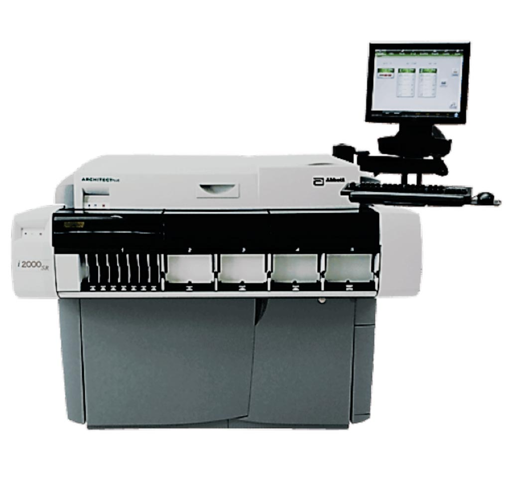 Image: The Architect i2000SR immunoassay analyzer (Photo courtesy of Abbott Diagnostics).