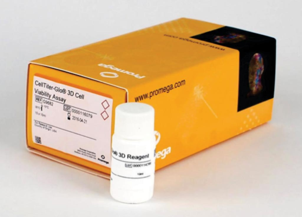 Image: The CellTiter-Glo 3D cell viability assay (Photo courtesy of Promega).