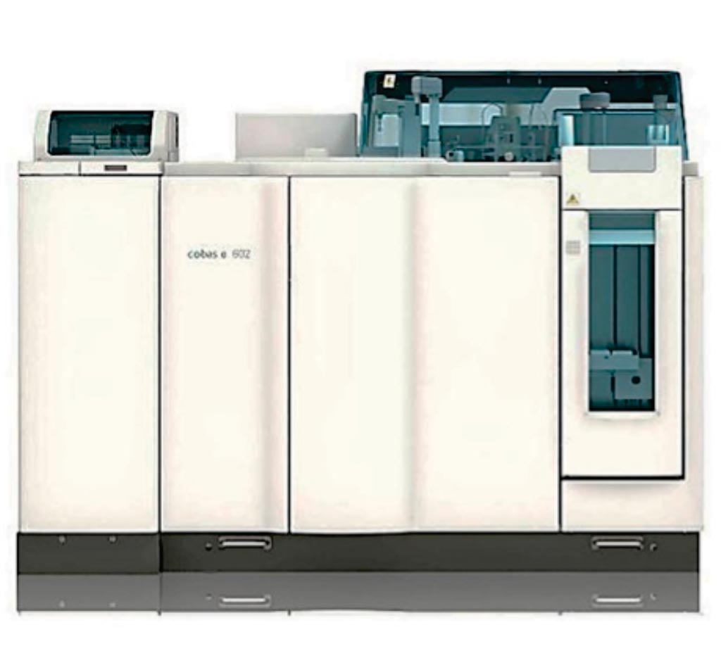 Image: The cobas e 602 integrates immunoassay and clinical chemistry testing on a single platform (Photo courtesy of Roche).