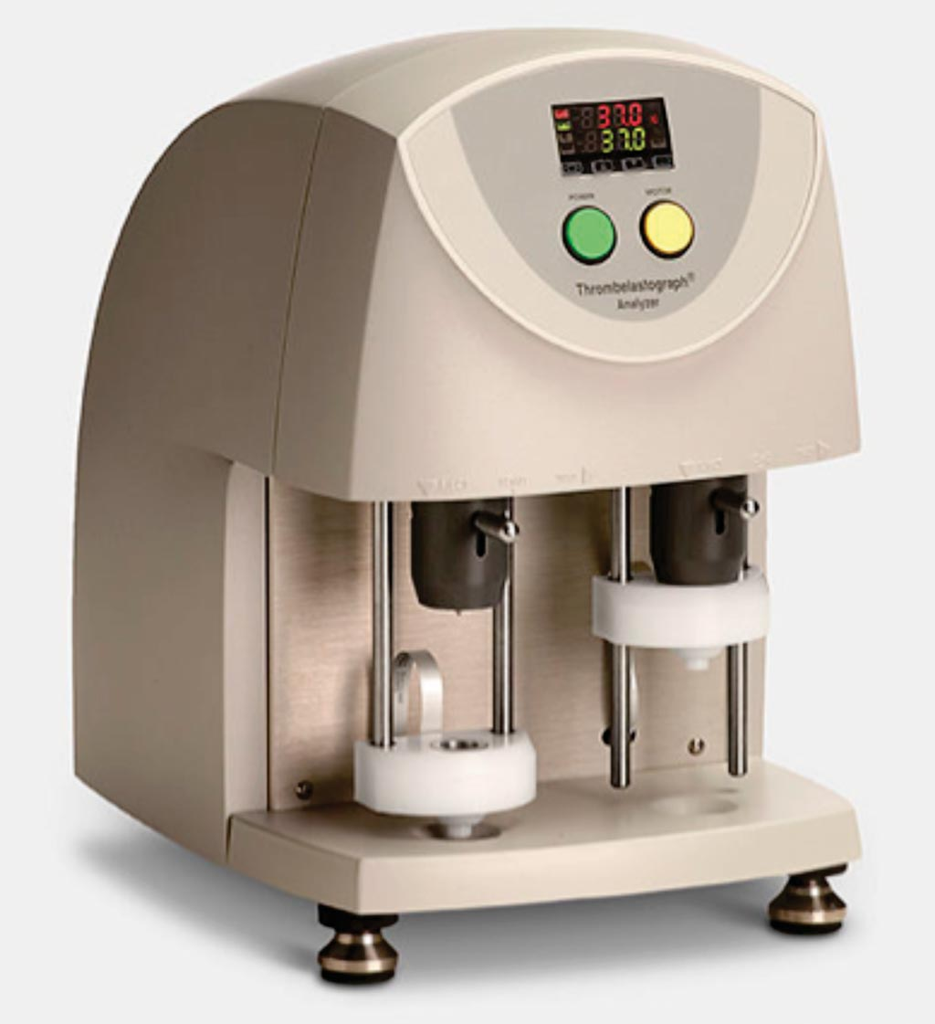 Image: The TEG 5000 Thrombelastograph Hemostasis Analyzer System is utilized to help assess bleeding and thrombotic risks, and to monitor antithrombotic therapies (Photo courtesy of Haemonetics).