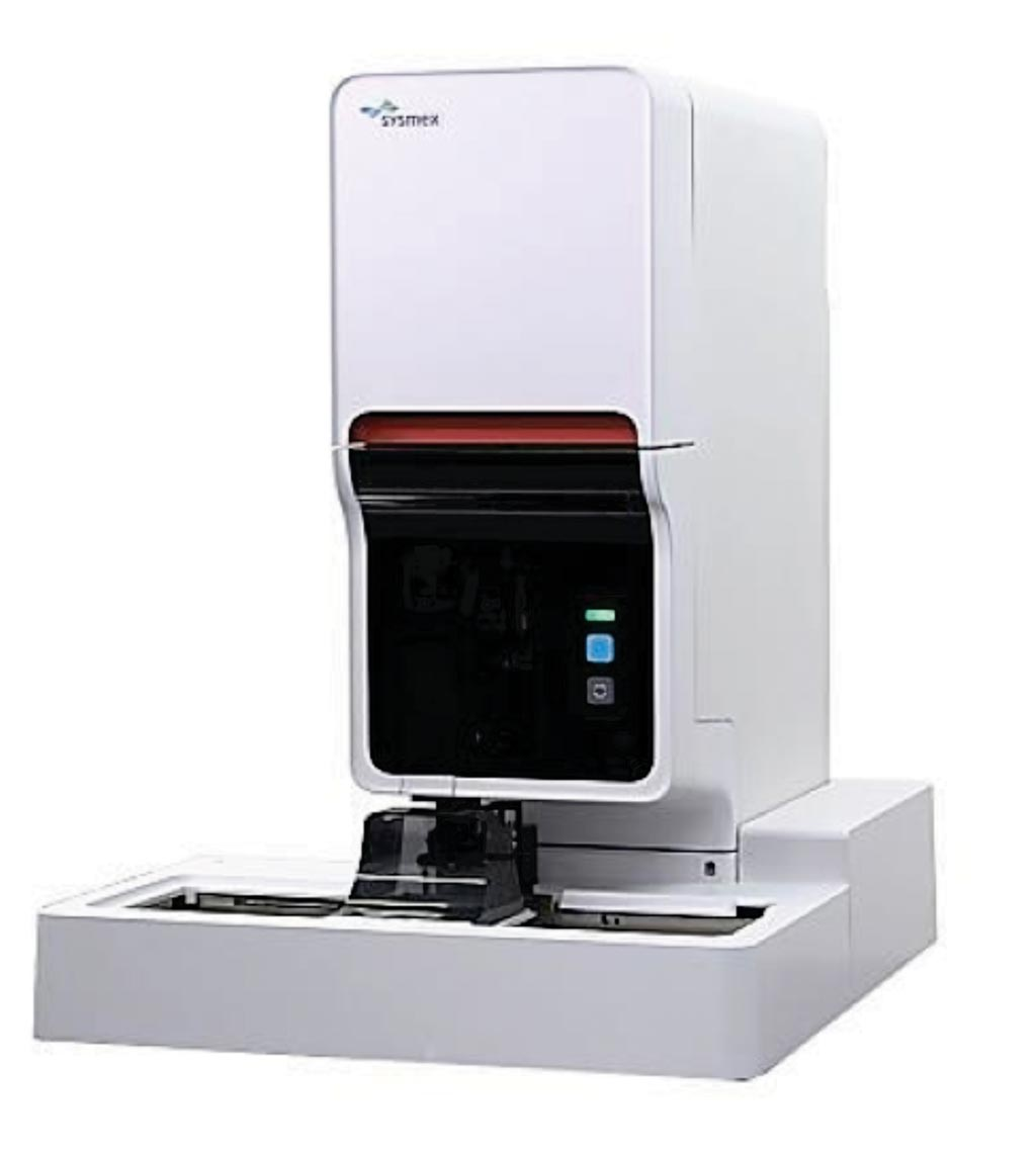 Image: The XN-30 automated hematology analyzer that has an automatic measurement functions for red blood cells infected by malaria parasites (Photo courtesy of Sysmex).