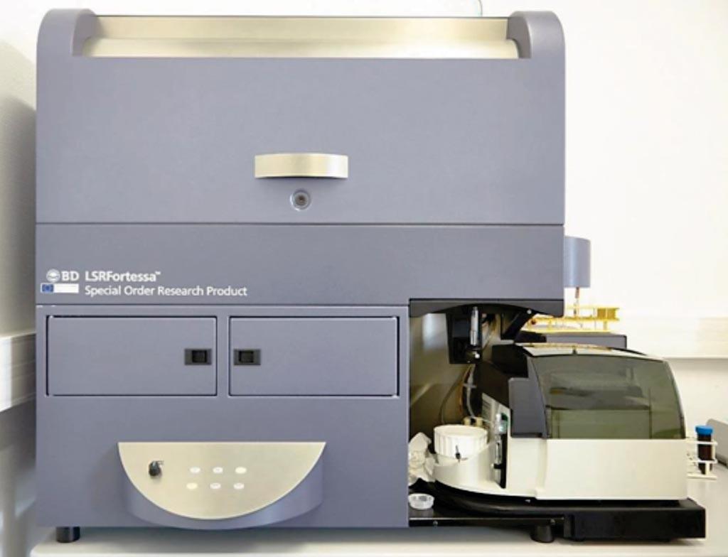 Image: The LSRFortessa flow cytometer instrument (Photo courtesy of BD Biosciences).