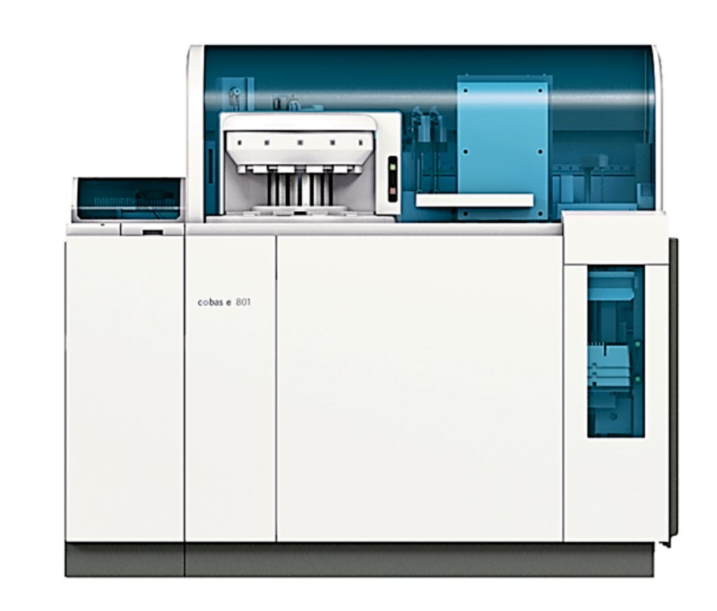Image: The cobas e 801 module is a high throughput immunochemistry module that performs a broad range of heterogeneous immunoassay tests (Photo courtesy of Roche Diagnostics).