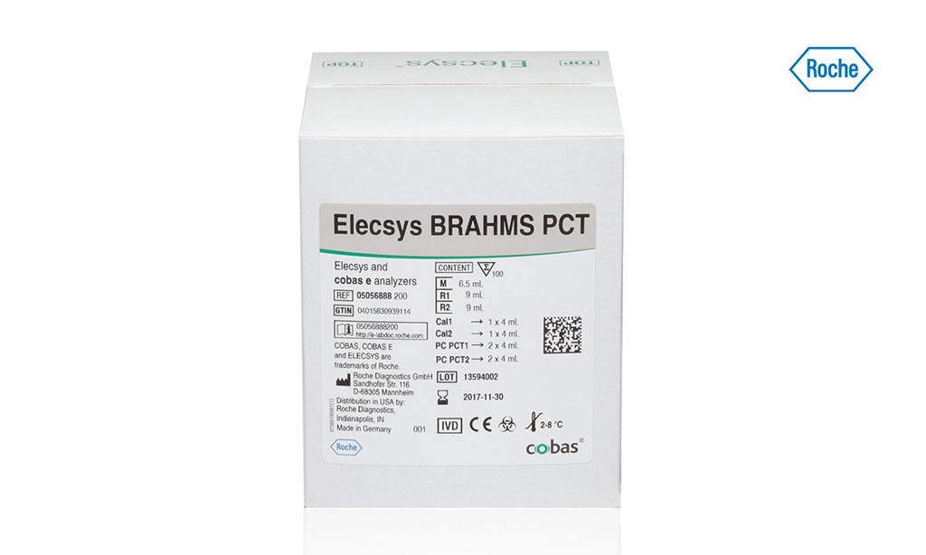 Image: The Elecsys BRAHMS PCT (procalcitonin) assay is intended for the mortality risk assessment and management of sepsis patients. Featuring a short duration time of only 18 minutes, the Elecsys BRAHMS PCT assay can be easily added to any of the automated cobas immunoanalyzer platforms (Photo courtesy of Roche Diagnostics).