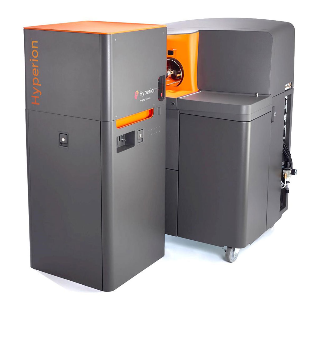 Image: The Hyperion Imaging System brings proven CyTOF technology together with imaging capability to empower simultaneous interrogation of four to 37 protein markers using Imaging Mass Cytometry (Photo courtesy of Fluidigm)