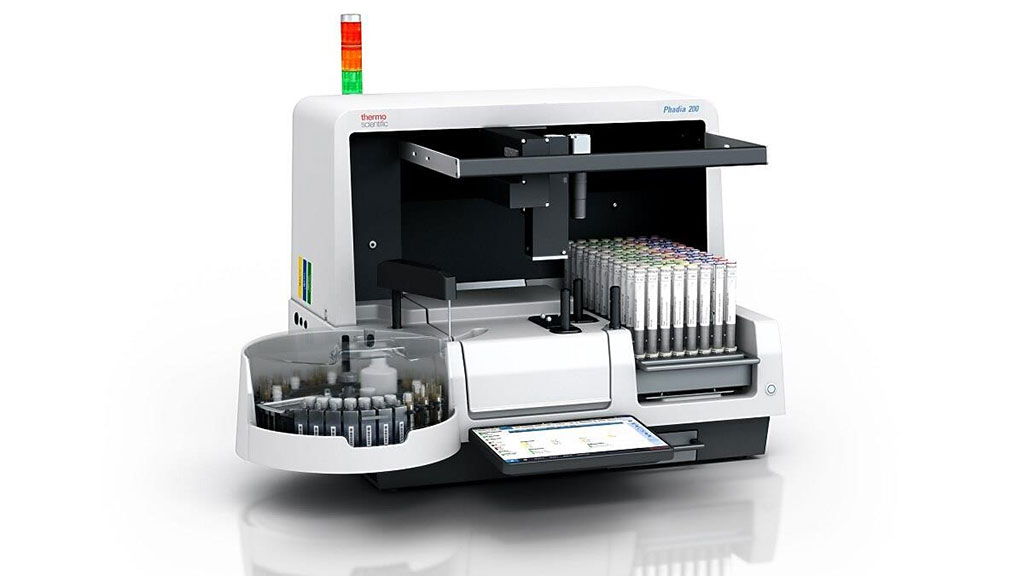 Image: The Phadia 200 instrument is small enough to fit on a benchtop, and yet capable of running the complete menu of more than 700 different ImmunoCAP and EliA tests to aid in the diagnosis of allergy and autoimmune diseases (Photo courtesy of Thermo Fisher Scientific)