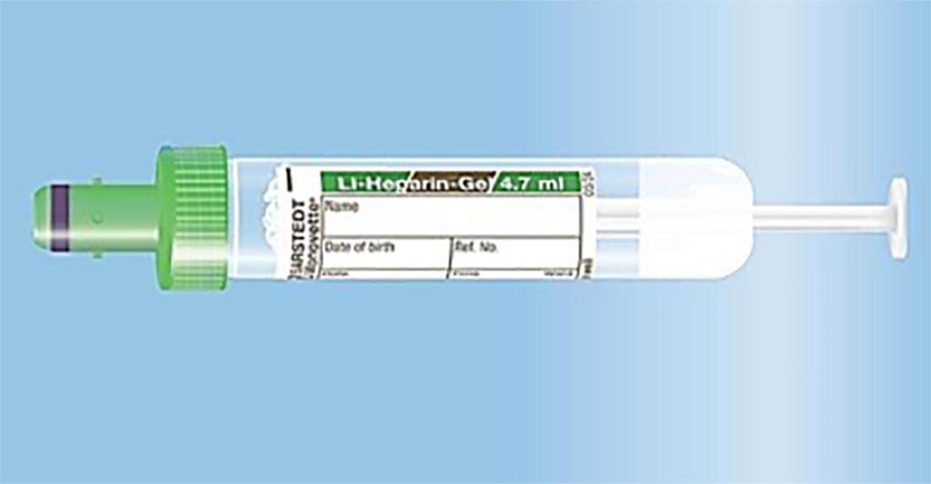 Image: The manual aspiration of the 4.7 mL S-Monovette Lithium-Heparin Gel tube reduces hemolytic sampling (Photo courtesy of SARSTEDT AG)