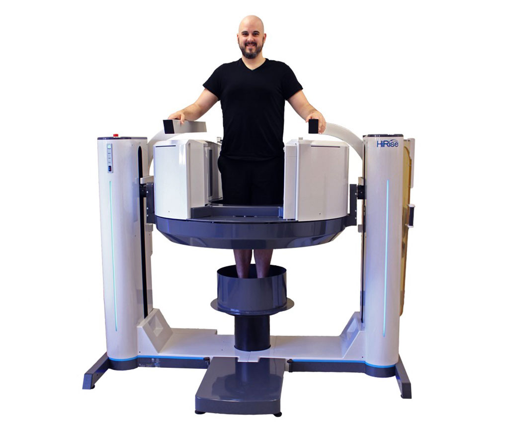 Image: The HiRise weight bearing CBCT system scans whole limbs (Photo courtesy of Curvebeam)