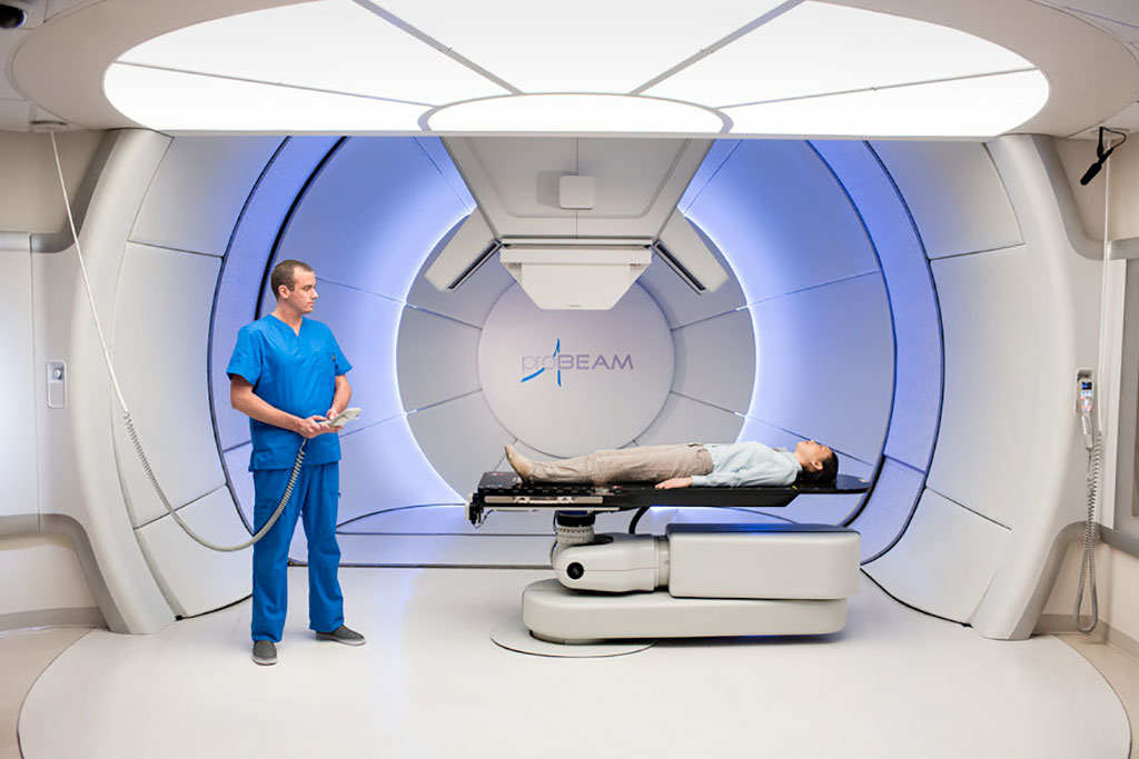 Image: The Varian Probeam proton therapy System (Photo courtesy of Varian)