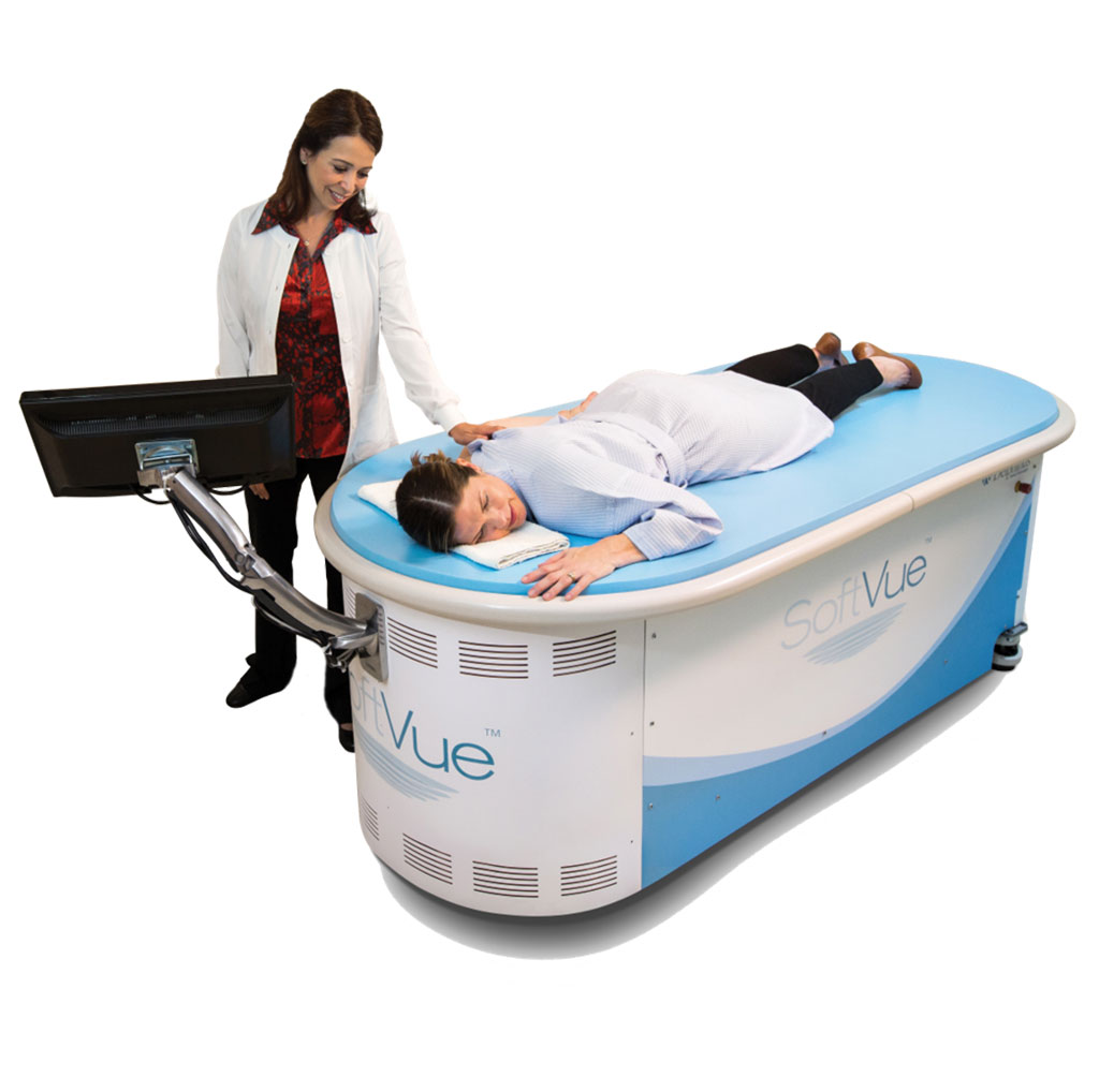 Image: The SoftVue 3D whole breast ultrasound system (Photo courtesy of DMT)