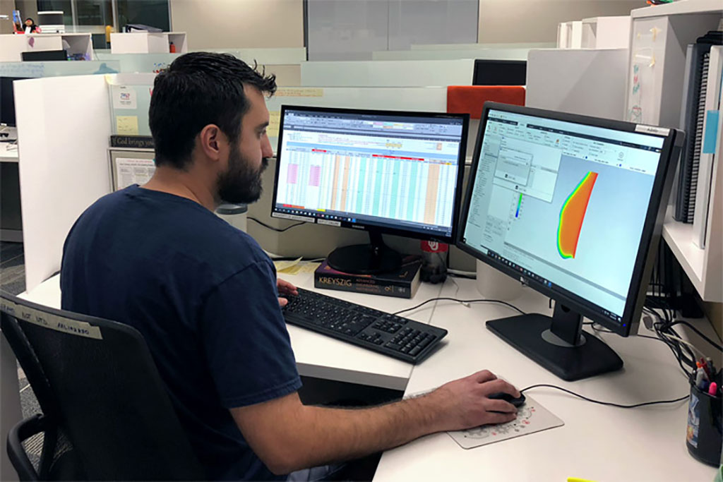 Image: Lead author Dr. Adolfo Lozano working on the proof-of-concept computer model (Photo courtesy of UTD)
