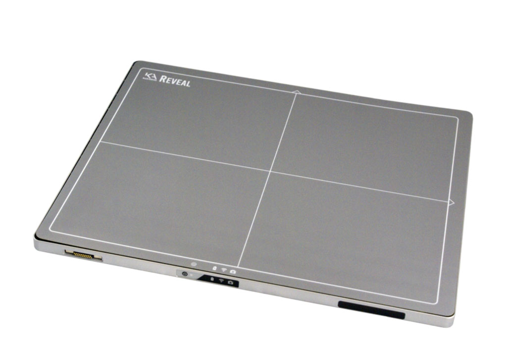 Image: The Reveal Ray flat panel detector (Photo courtesy of KA Imaging)